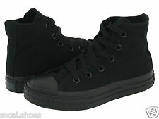 Converse All-Star Chuck Taylor CT Kids / Youth Shoes Black Monochrome Hi top NEW