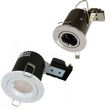 Luneta Fire Rated 7w CFL GU10 Ceiling Spot Light Downlight Stainless Steel White