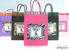 PERSONALISED PAPER PARTY GIFT BAGS HEN BIRTHDAY - THEME FAVOURS ACCESSORIES