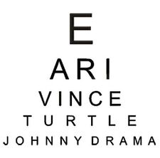 Entourage Eye Chart T-shirt TV Show Cool 3 Colors S-3XL