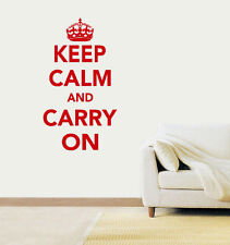 Keep Calm and Carry On Vinyl Wall Art Sticker Decal
