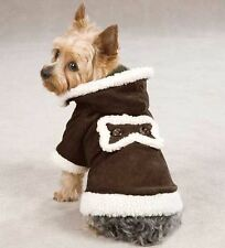 Hooded Sherpa Coat Dog Jacket Pet coat w/ hood XXS-XL