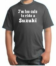 CUTE SUZUKI HATER KID SHIRT MOTORCYCLE DIRT BIKE FUNNY