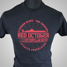 The Hunt for Red October Movie Themed Retro T Shirt Submarine USSR Soviet Cool