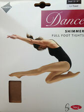 Adults Womens Ladies Full Foot Shimmer Dance Tights