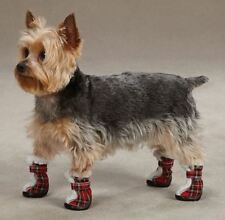 Tartan Dog  Boot Snow Booties Paw Protection Hiking Reflective Winter Holiday