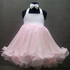 National State Pageant Baby Doll Dress Halter Shell * 1-2, 3-4, 4-6T *(Wt Pink)