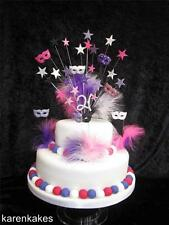 MASQUERADE MASK BIRTHDAY CAKE TOPPER - ANY COLOURS - 18th 21st 30th 40th 50th