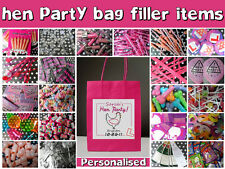 HEN NIGHT PARTY GIFT BAGS **FILLED** CREATE YOUR OWN ACCESSORIES - PERSONALISED