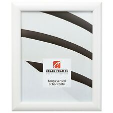 Craig Frames Bullnose, Contemporary Satin White Picture Frame