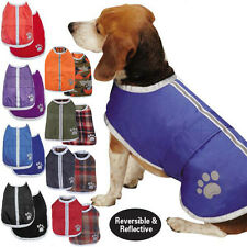 Reversible Blanket Dog Coat Jacket Reflective Rain Noreaster Pet Water Resistant