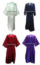 100% Charmeuse Silk Robe Dressing Gown - Kimono Sleepwear Sweet & Sexy