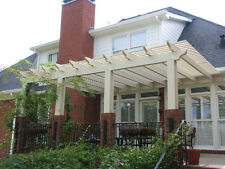 Alumawood Aluminum Pergola Kit, Lattice Shade Canopy, Pergola Kit Multiple Sizes