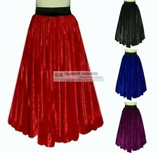 NEW Full Circle Long Skirt Velvet Skirt  XS S M L XL XXL 3XL #GF0687V