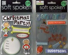 SOFT SPOKEN Assorted STICKERS 3D Choice MAMBI Me & My Big Ideas HOLIDAYS & more