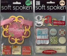 SOFT SPOKEN Assorted STICKERS 3D Choice MAMBI Me & My Big Ideas FAMILY & more
