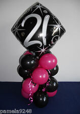 18TH, 21ST,30TH,40TH,50TH,60TH BIRTHDAY FOIL BALLOON TABLE DECORATION DISPLAY