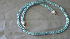 "artisan Viking Knit blue necklace chain 16"" - 24"" #162"