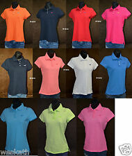 NWT HOLLISTER HCO by Abercrombie A&F WOMENS POLO SHIRT TOP Cotton Pique Collared