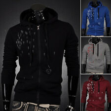 Mens Casual Winter Hoodies Hooded Sports Jackets Coats Pullover Sweatshirts Tops