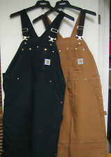Carhartt R02 Men Mens Insulated Duck Bib Quilt Lined Winter Overall Coverall