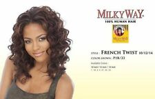 "FRENCH TWIST 10"" BY MILKYWAY WEAVE 100% HUMAN HAIR WAVY EXTENSION"