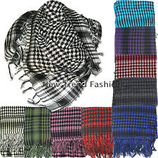 Mens Womens Checkered Arab Shemagh Arabian Scarf Pashmina Kafiya Wrap around