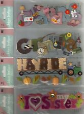 Jolee's Boutique TITLE WAVES Assorted STICKERS 3D Choice SCRAPBOOKING Phrase A-Z