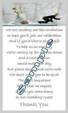 50 x Mini Polite request for Money Poem Cards - to accompany Wedding invitations