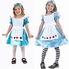 GIRLS KIDS FANCY DRESS OUTFIT ALICE IN WONDERLAND BNWT AGE 4 5 6 7 8 9 10 11 12