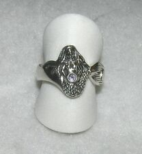 Mermaid Ring with Amethyst Sterling Silver Nautical Band