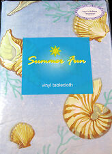 "FLANNEL-BACKED VINYL ""SUMMER FUN""  TABLECLOTHS- ASSORTED PATTERNS AND SIZES- NEW"