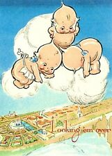 KEWPIE'S FLOATING IN THE CLOUDS FABRIC BLOCK NOT IRON ON YOU CHOOSE SIZE