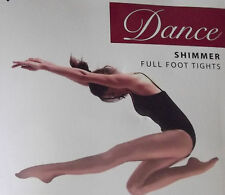 Girls Dance Tights LIGHT TOAST, Full Foot, Toast Ages 5-7 7-9 9-11 11-13 years