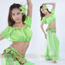 13 color New Shinning Blouse Top Sexy Belly Dance Costumes
