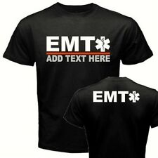 ADD your NAME/TEXT to our CUSTOM EMT ems ambulance medical technician T-shirt