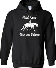 Hunt Seat on the Flats Horse & Rider Hooded Sweatshirt Multiple Colors & Sizes