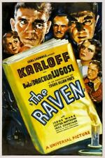 Vintage Old Movie Poster The Raven 1935 Print Canvas A4 A3 A2 A1