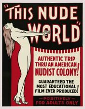 Vintage Old Movie Poster This Nude World 1933 Print Art A4 A3 A2 A1