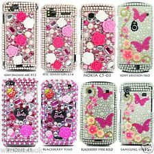 Barbie Butterfly Flower Princess Pearl Gemstone Diamond Case For Various Mobiles