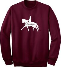 Dressage Horse and Rider Horse Lover's Sweatshirt Multiple Colors & Sizes