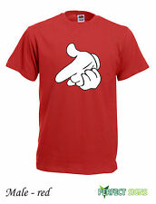 DRAKE MICKEY MOUSE HANDS YMCMB YOLO S T-SHIRT S-2XL FREE P&P -  Red