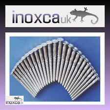"""STAINLESS STEEL DECKING WOOD SCREWS 2.5"""" No. 10 CSK COUNTER SUNK PZ C/S 65 x 5mm"""