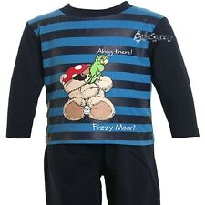 Baby Boys Fizzy Moon Teddy Pirate Long Pyjamas Ages 6-23 Months