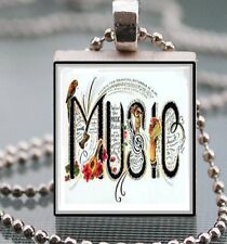 Music Scrabble Tile Pendant Handcrafted Jewelry Art Dance Music Lovers 01