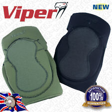 Viper Neoprene Paintball Airsoft PPE Knee Pads Padding Guards - Black & Green