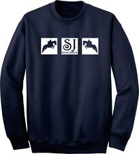 Show Jumping Squares Horse and Rider Sweatshirt Multiple Colors & Sizes