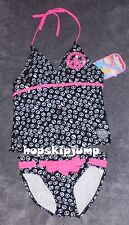 BREAKING WAVES PEACE SIGNS TANKINI SWIMSUIT 2-piece Girls 10 ~ NWT