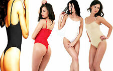 THONG BODYSUITS/LEOTARDS THIN STRAPS QUALITY ALL SIZES-COLOURS