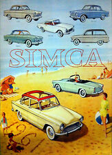 Simca 1000 Full Range Print Picture Poster A1 Aprox